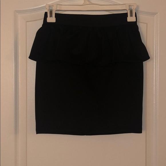 Charlotte Russe Dresses & Skirts - Black Skirt w/peplum